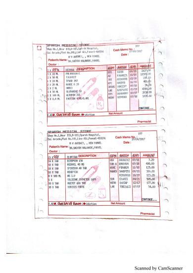 Medical and hospital bills