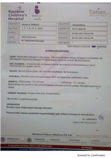 Liver Scan Report