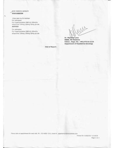 Patient Evaluation SummeryTATA MEDICAL CENTER 1a