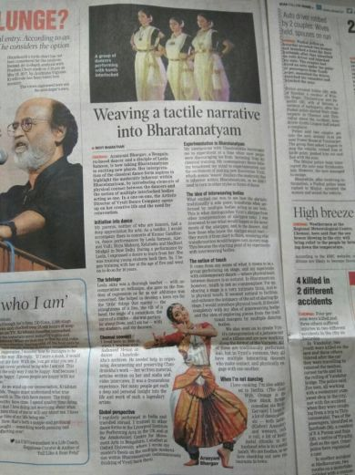 Story about Vyuti in DTNext, Chennai