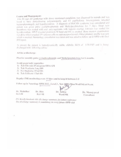 Medical documents of  Harpal Singh