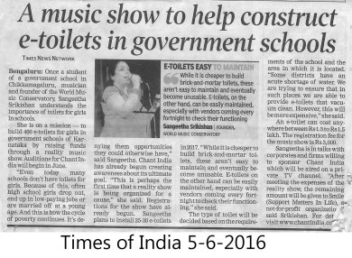 Article about Smile Swachalaya in TOI