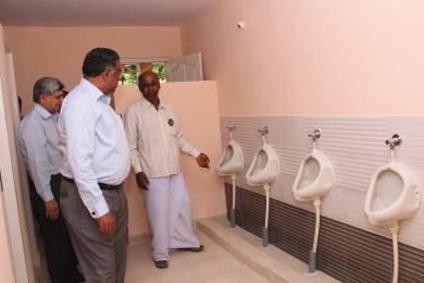 Completed swachalayas at Sri Sharadha school,Tippasandra Village