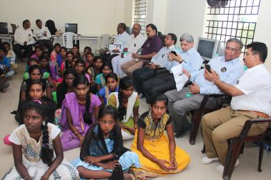 Students program at Sri Sharadha school,Tippasandra Village