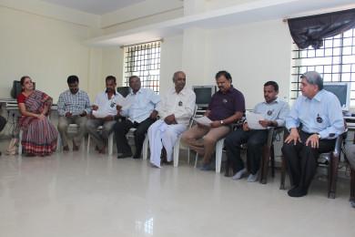 Meeting at Sri Sharadha school,Tippasandra Village