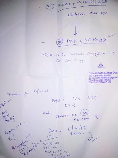 Consultation for Cataract & Diabetic Retinopathy (2)