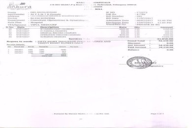 Bill Paid for Wife
