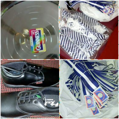 Sample of belt , tie ,shoes and plate (1 kit ) as shown by local shops