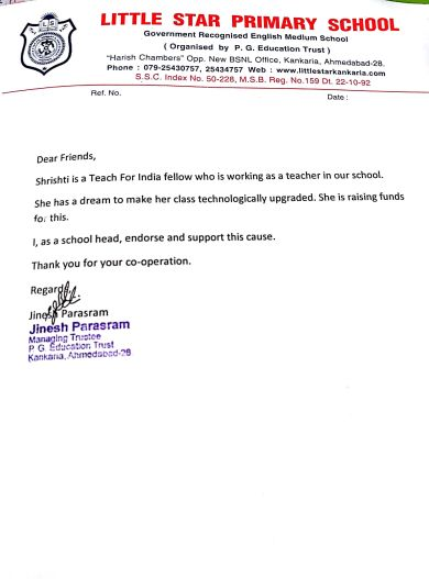 Letter from the School Head