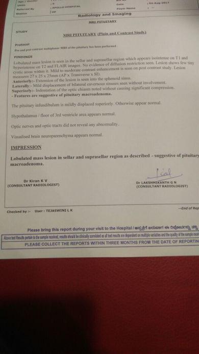 Report of MRI