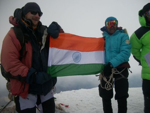 Jaahnavi on the Top of Mt. Elbrus
