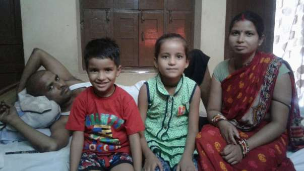 Suresh with his family after successful second cycle of treatment