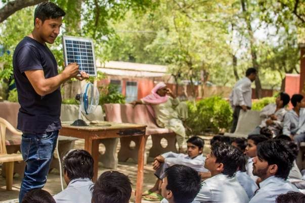 Conducting solar awareness programs in schools located in rural areas