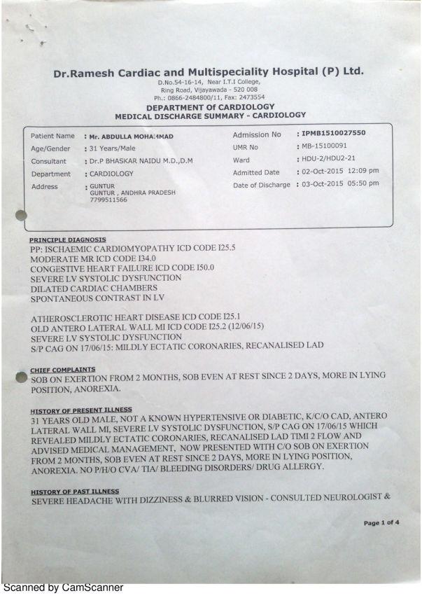 3. Ramesh Hospital Report