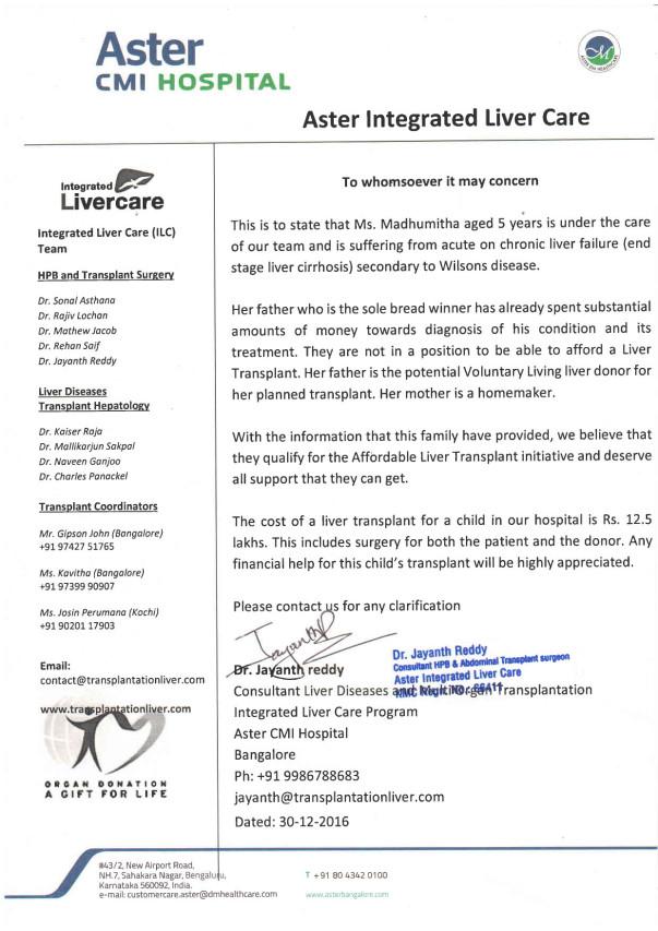 Doctor's letter