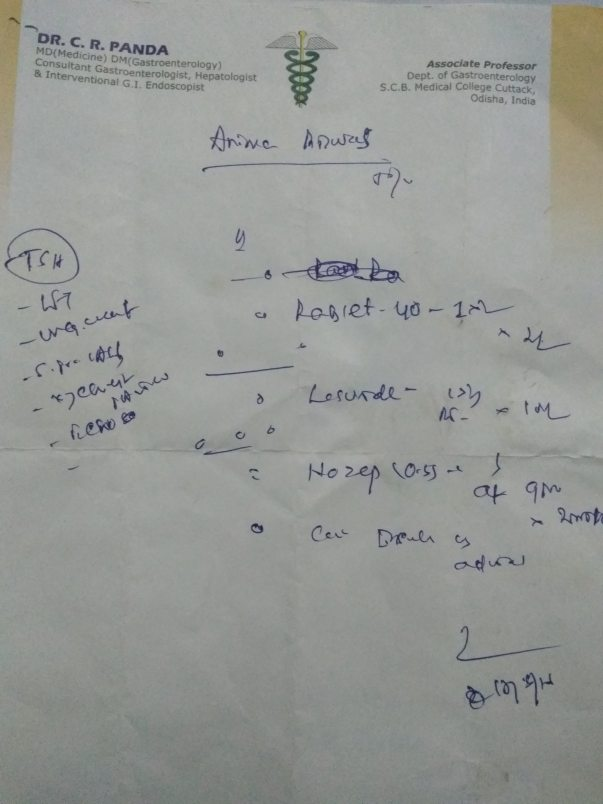 Gastroenterology Dr prescription last