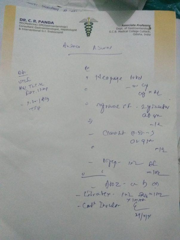 Gastroenterology Dr prescription 1