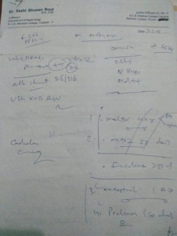 Nephrology Dr prescription 1
