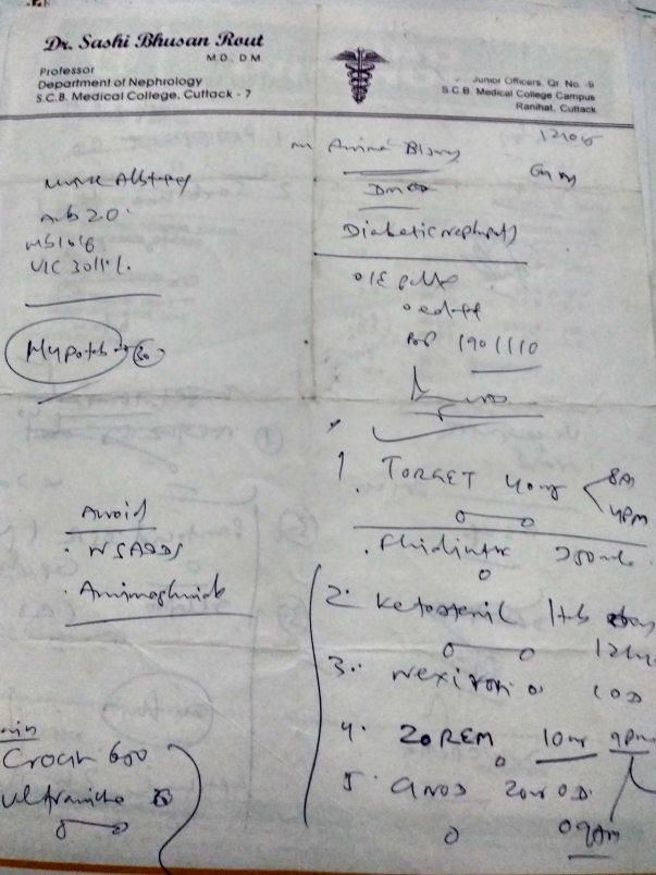 Nephrology Dr prescription 5