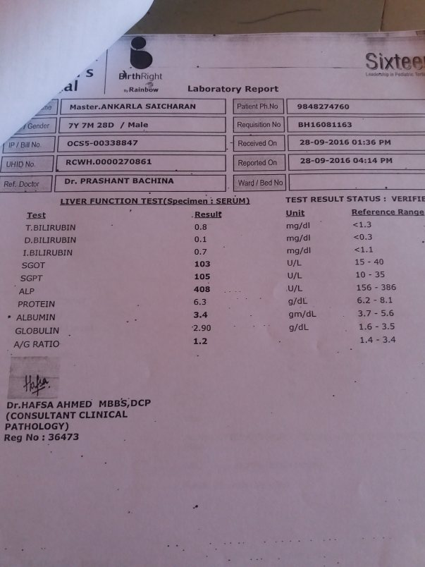 laboratry report