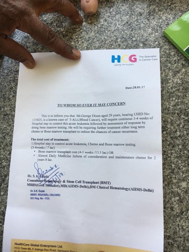 HCG Hospital Bangalore estimate