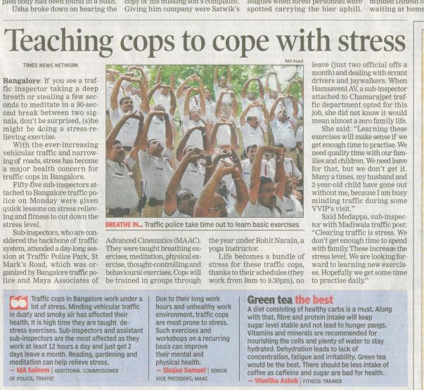 Stress Management Workshop for Blr Traffic Police