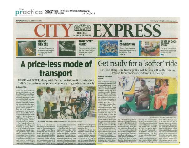 Soft Skills Training to Blr AutoRickshaw Drivers .