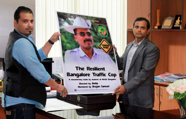 Poster Launch of Documentary Film -Addl Commissioner Traffic ,Blr .