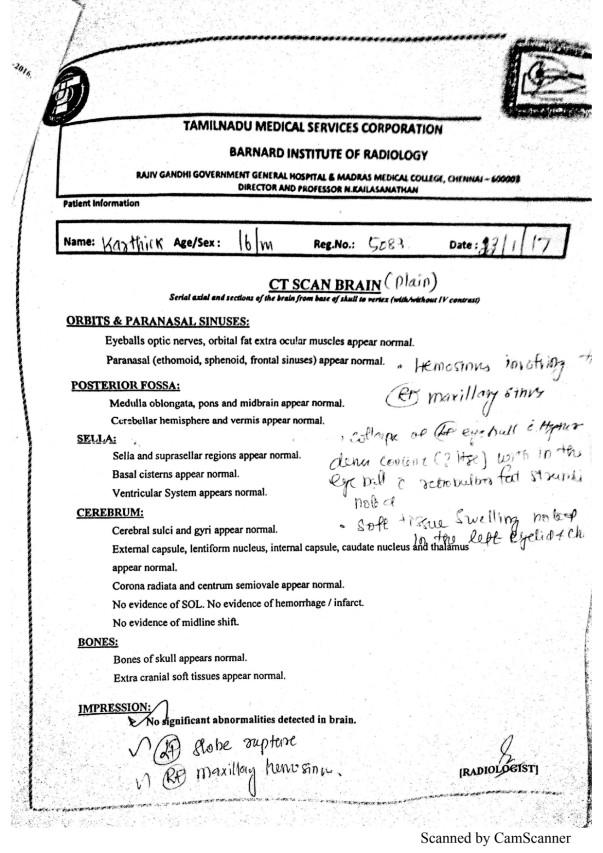 Karthik Medical Report pg 2