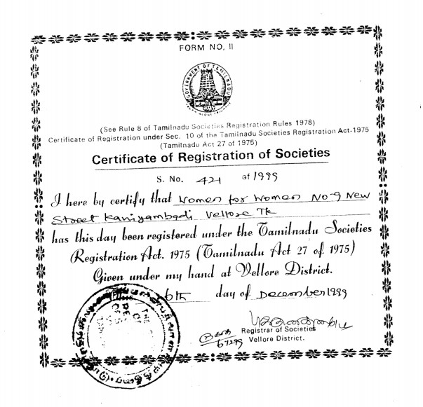 Registration Certificate.