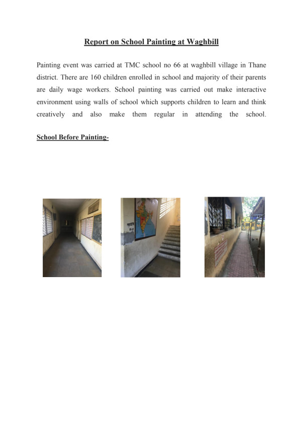 Report of School Painting event conducted on 5th of march 2017