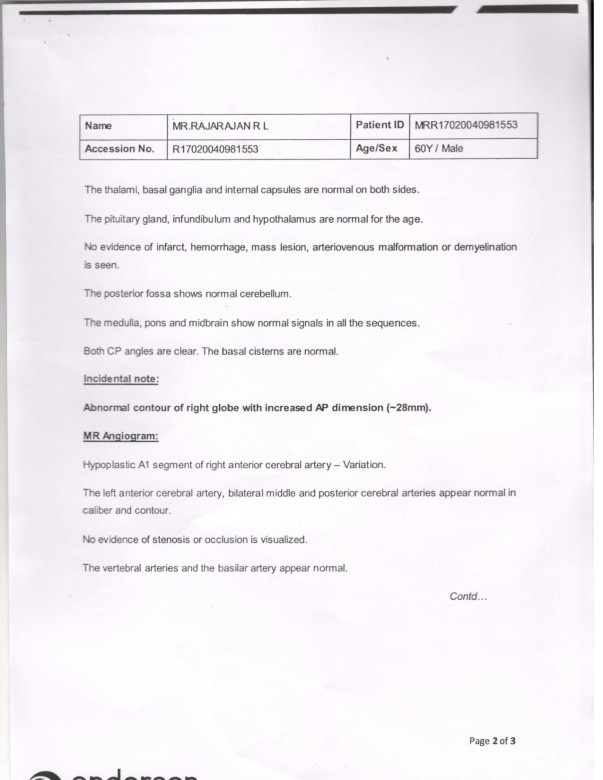 MRI Scan Report 2