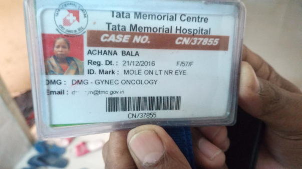 Tata memorial patient Id card