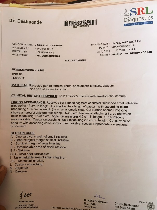 Histopathology (Report)