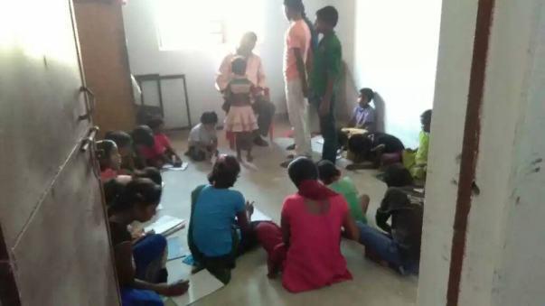 Class at Radhanagar Panchayat