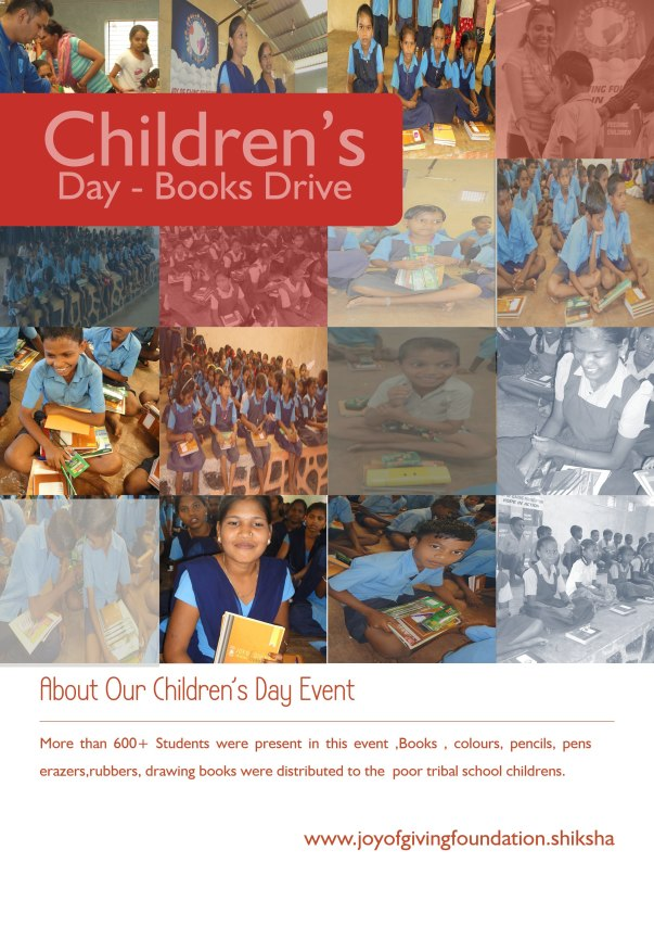 CHILDREN'S DAY book drive more than 600+ tribal students benifited