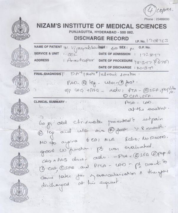 MEDICAL SUMMARY page 1