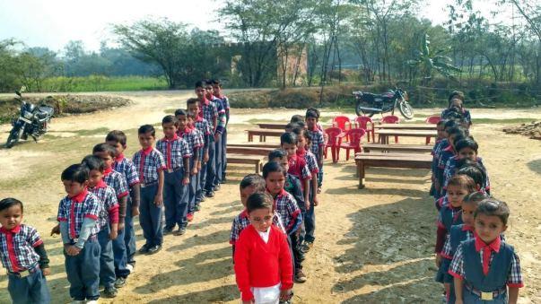 Kids in Queue for Prayer