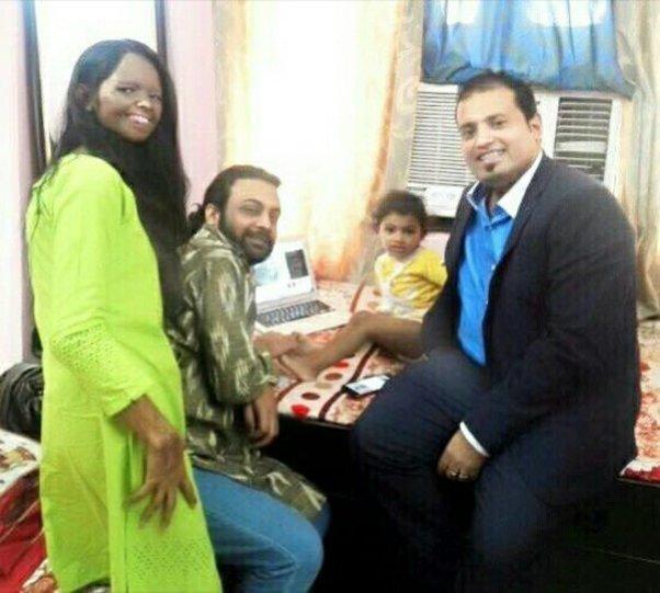 With Lakshmi Agarwal & Family .
