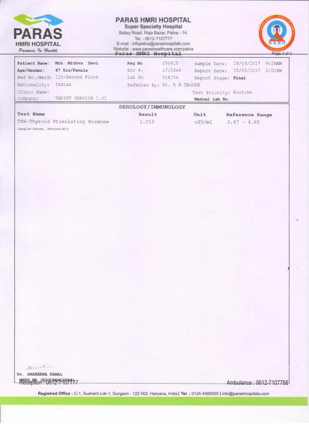 Immunology Report