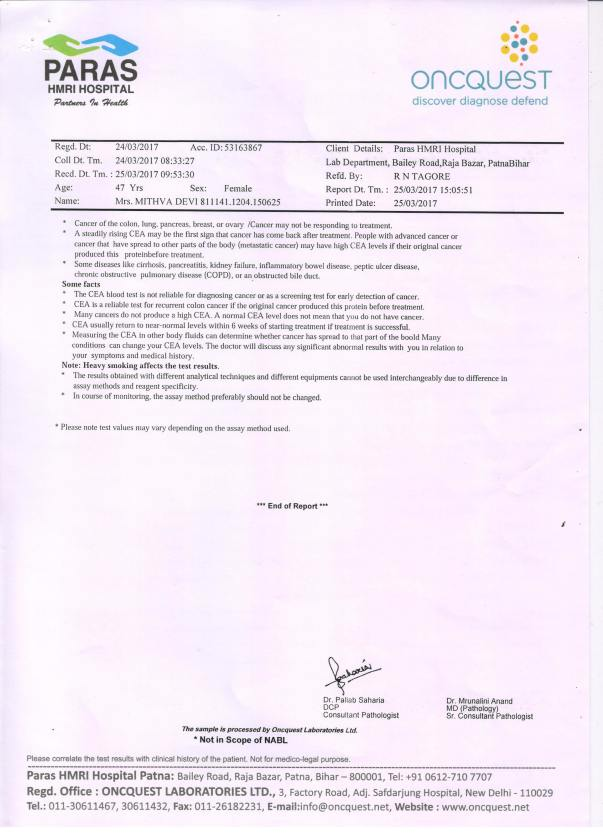 Immunoassay Report Cont...