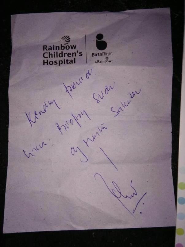 Rainbow Children Hospital - Doctor Advice