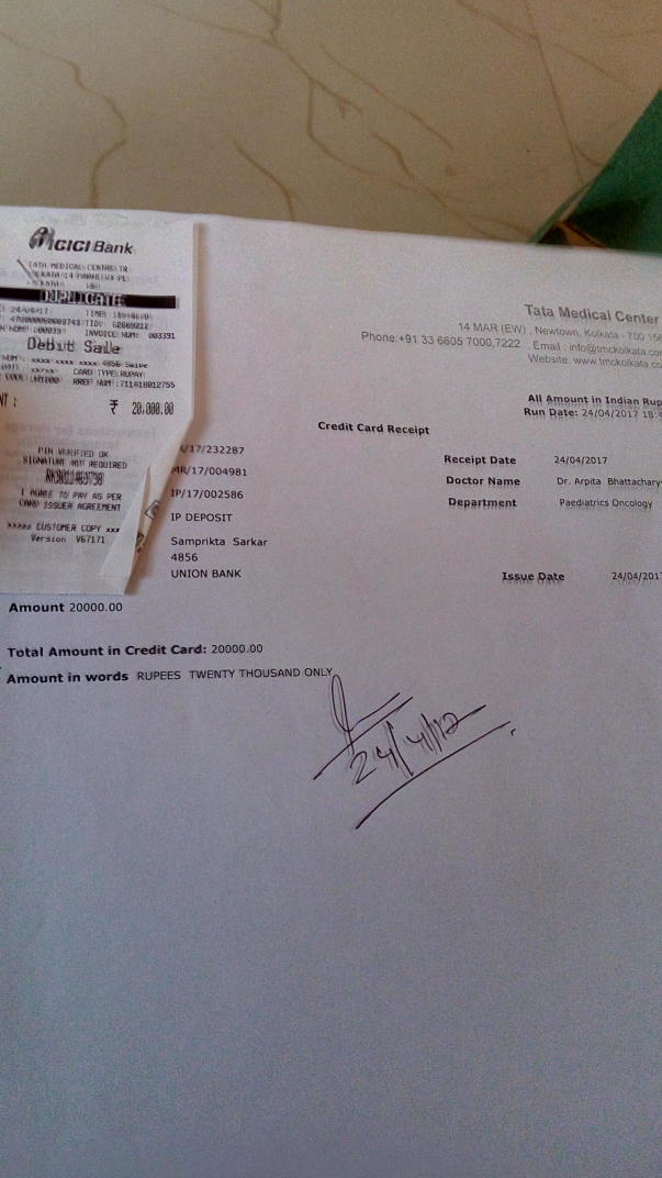 Some of hospital bill