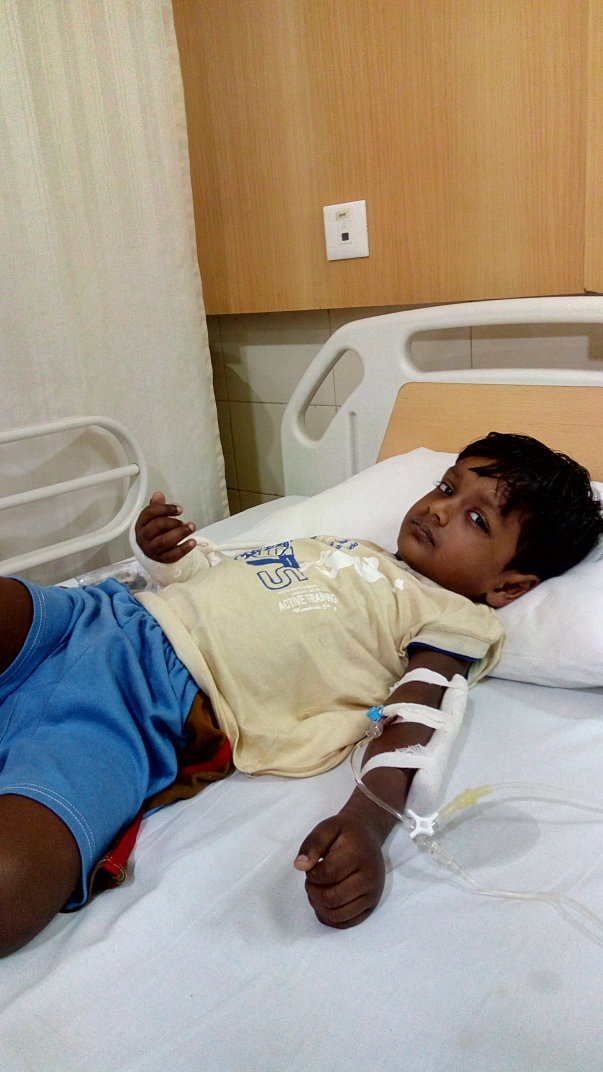 Admitted condition in hospital