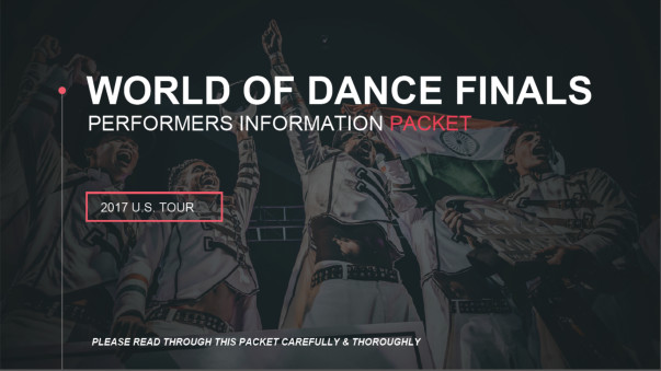 Our Invitation to perform at the World Of Dance finals
