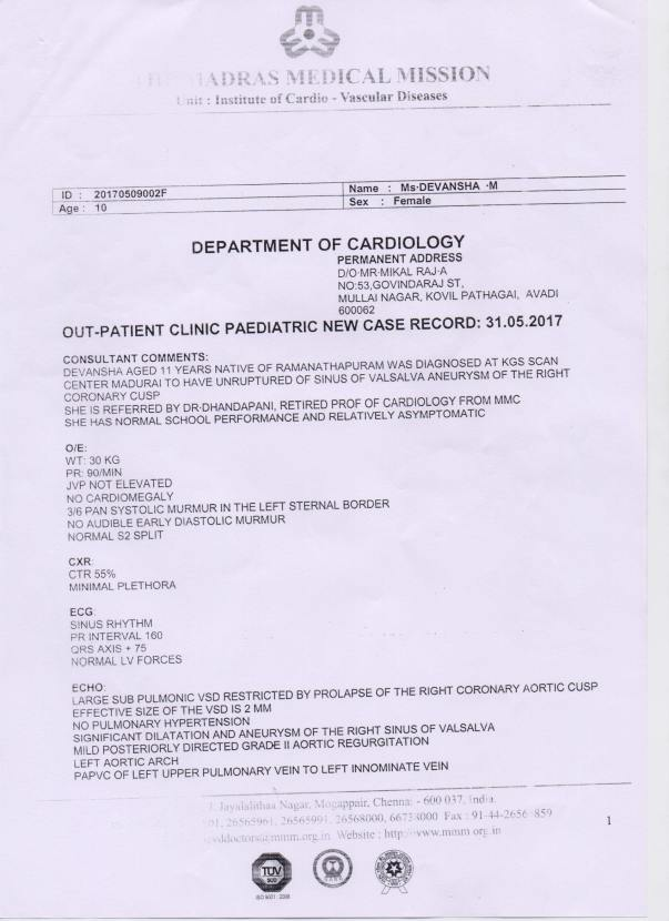 Medical Report Page -1