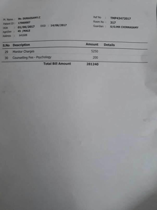 medical expense bill 2
