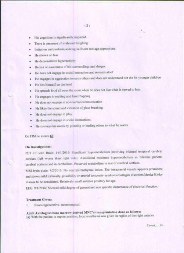 Page 2 - NRRT Treatement Details