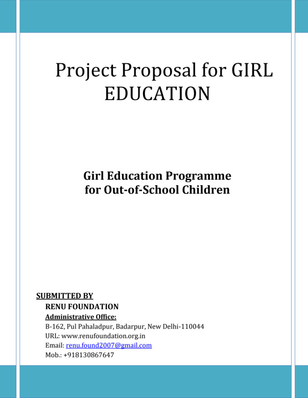 Proposal for Girl Education Center