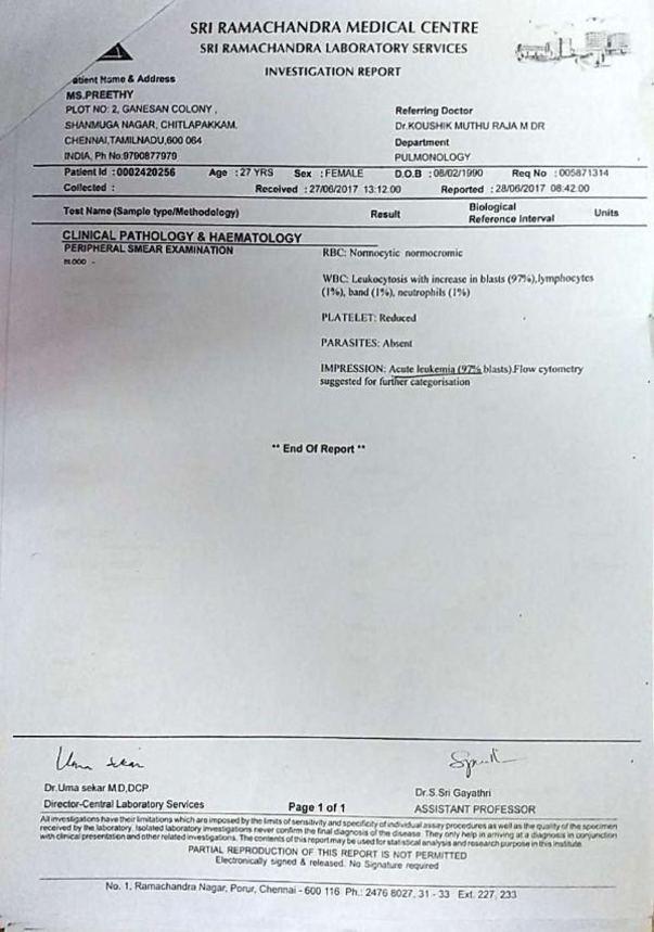 Investigation report - Pathology & Haematology - 2/2